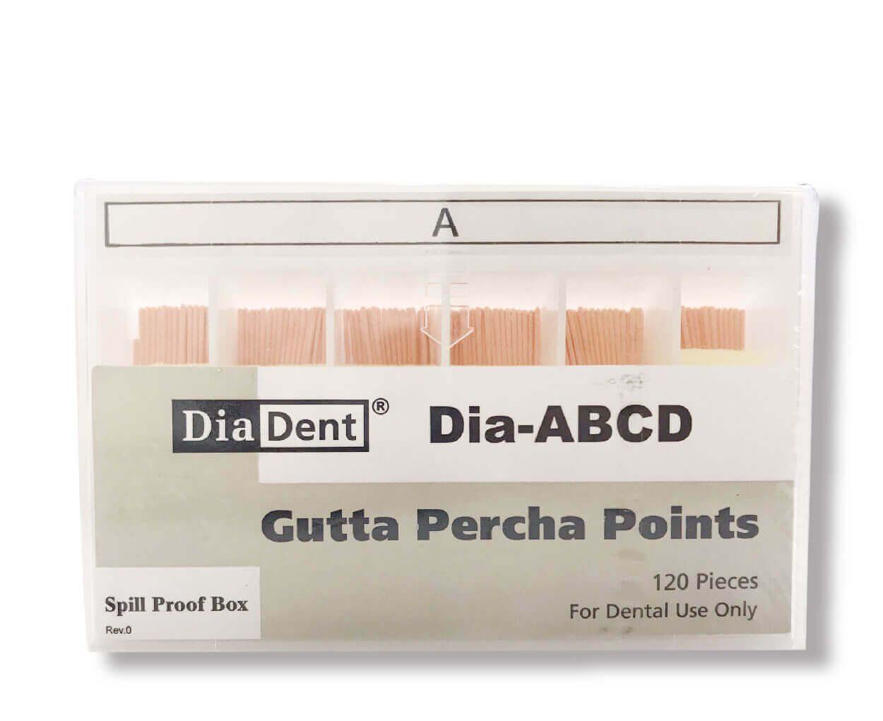 Cone phụ Diadent Gutta Percha A (120c/hộp)