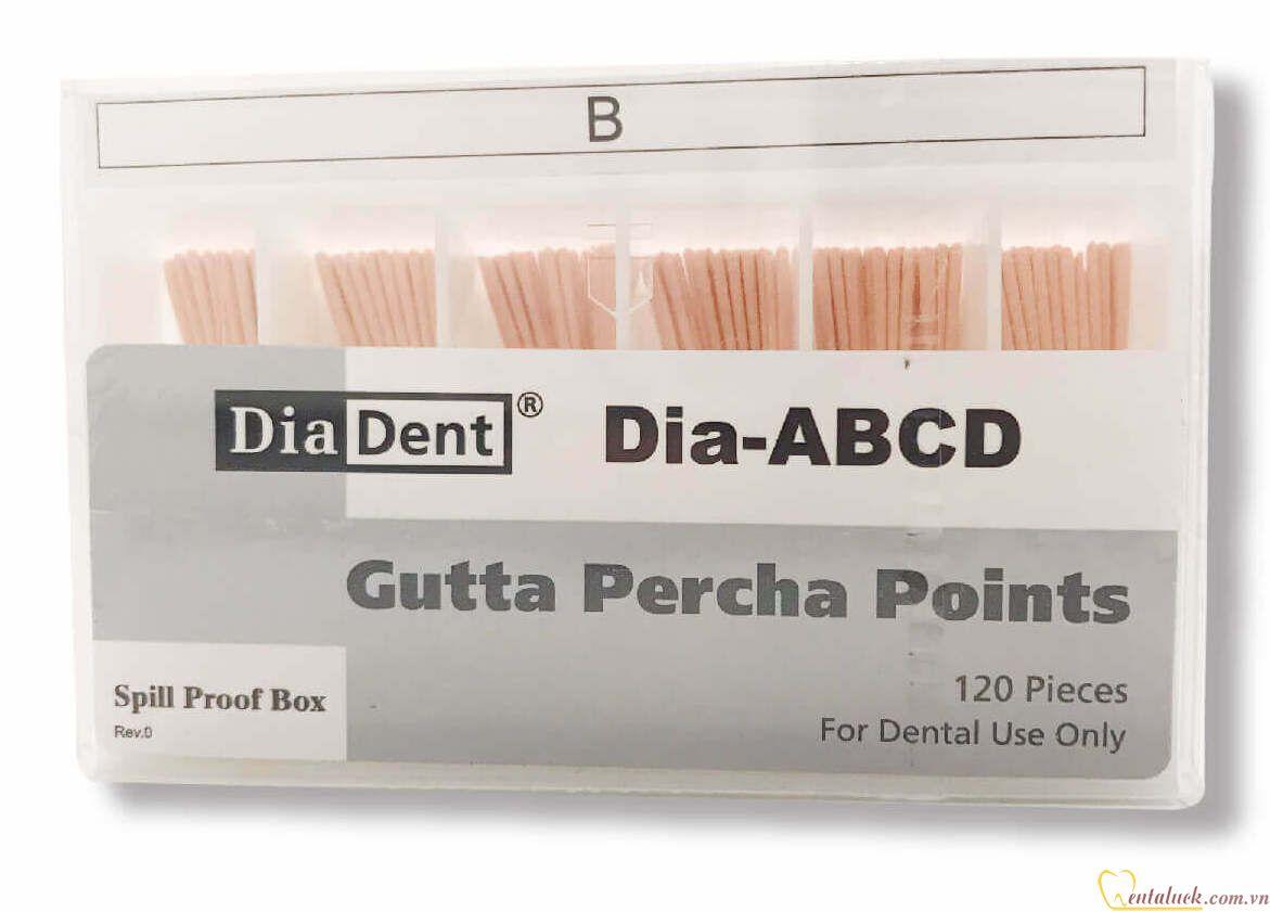 Cone phụ Diadent Gutta Percha B (120c/hộp)