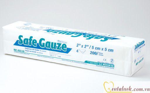 Gạc Safe Gauze 05x05cm 200c/cây (2″x2″)